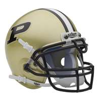 Purdue Boilermakers Mini Helmet by Schutt - Gold