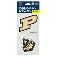 "Purdue Boilermakers Perfect Cut Decal 4"" x 4"" - Set of 2"