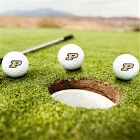 Purdue Boilermakers Golf Balls - Set of 3