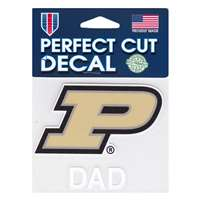 Purdue Boilermakers Perfect Cut Decal - Dad