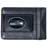 Seattle Seahawks Leather Card Holder Money Clip