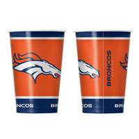 Denver Broncos Disposable Paper Cups - 20 Pack
