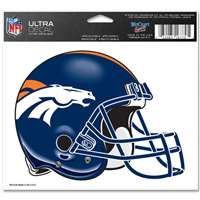 "Denver Broncos Ultra decals 5"" x 6"""