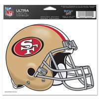 "San Francisco 49ers Ultra decals 5"" x 6"""