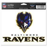 "Baltimore Ravens Ultra decals 5"" x 6"""