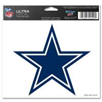 "Dallas Cowboys Ultra decals 5"" x 6"""
