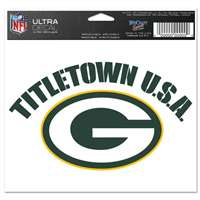 "Greenbay Packers Ultra decals 5"" x 6"" - TitleTown USA"