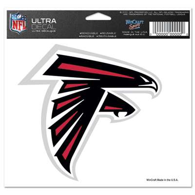"Atlanta Falcons Ultra decals 5"" x 6"""