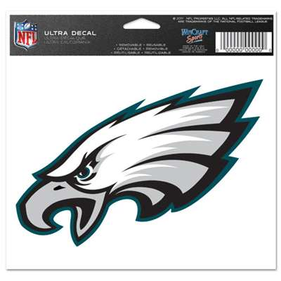 "Philadelphia Eagles Ultra decals 5"" x 6"""