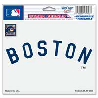 "Boston Red Sox Ultra decals 5"" x 6"" - Cooperstown Logo"