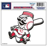 "Cincinnati Reds Ultra decals 5"" x 6"" - Mr. Red Logo"