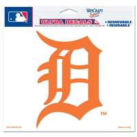 "Detroit Tigers Ultra decals 5"" x 6"" - Orange D Logo"