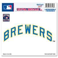 "Milwaukee Brewers Ultra decals 5"" x 6"" - Cooperstown Logo"