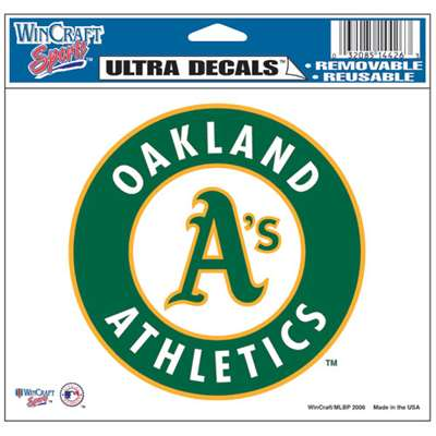 "Oakland Athletics Ultra decals 5"" x 6"""