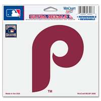 "Philadelphia Phillies Ultra decals 5"" x 6"" - Cooperstown Logo"
