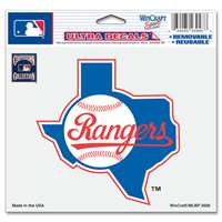 "Texas Rangers Ultra decals 5"" x 6"" - Cooperstown Logo"