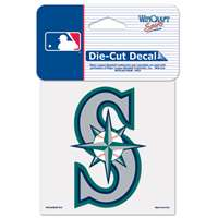 "Seattle Mariners Full Color Die Cut Decal - 4"" X 4"""