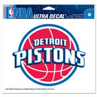"Detroit Pistons Ultra decals 5"" x 6"""