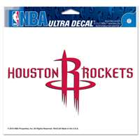 "Houston Rockets Ultra decals 5"" x 6"""
