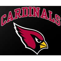"Arizona Cardinals Full Color Die Cut Transfer Decal - 6"" x 6"""