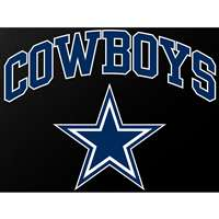 "Dallas Cowboys Full Color Die Cut Transfer Decal - 6"" x 6"""
