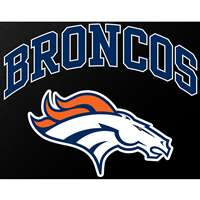 "Denver Broncos Full Color Die Cut Transfer Decal - 6"" x 6"""