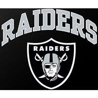 "Oakland Raiders Full Color Die Cut Transfer Decal - 6"" x 6"""