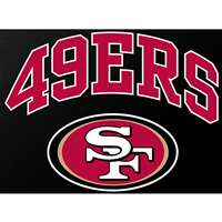 "San Francisco 49ers Full Color Die Cut Transfer Decal - 6"" x 6"""