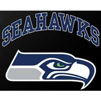 "Seattle Seahawks Full Color Die Cut Transfer Decal - 6"" x 6"""