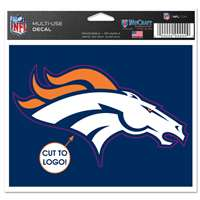 Denver Broncos Multi Use Perfect Cut Decal