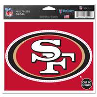 San Francisco 49ers Multi Use Perfect Cut Decal
