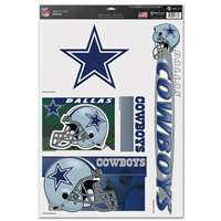 Dallas Cowboys Ultra Decal Set - 11'' X 17''