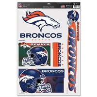 Denver Broncos Ultra Decal Set - 11'' X 17''