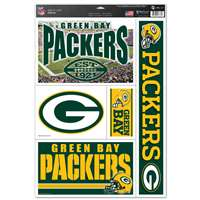 Green Bay Packers Ultra Decal Set - 11'' X 17''