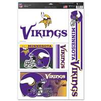Minnesota Vikings Ultra Decal Set - 11'' X 17''