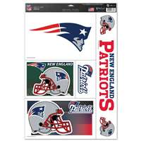 New England Patriots Ultra Decal Set - 11'' X 17''