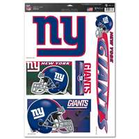 New York Giants Ultra Decal Set - 11'' X 17''