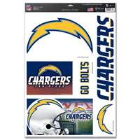 San Diego Chargers Ultra Decal Set - 11'' X 17''