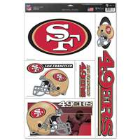 San Francisco 49ers Ultra Decal Set - 11'' X 17''