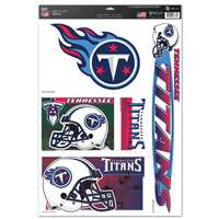 Tennessee Titans Ultra Decal Set - 11'' X 17''
