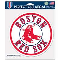 "Boston Red Sox Full Color Die Cut Decal - 8"" X 8"""