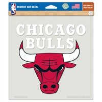 "Chicago Bulls Full Color Die Cut Decal - 8"" X 8"""