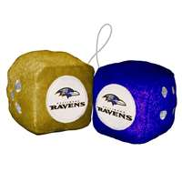 Baltimore Ravens Fuzzy Dice