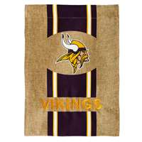 "Minnesota Vikings Burlap Flag - 12.5"" x 18"""