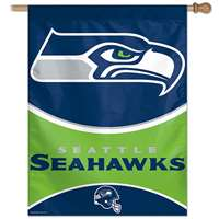 "Seattle Seahawks Banner/vertical Flag 27"" X 37"""