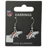 Denver Broncos Dangler Earrings