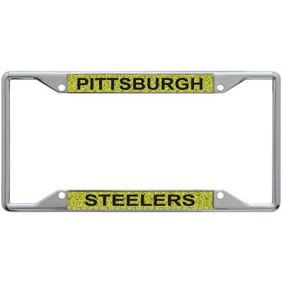 Pittsburgh Steelers Metal Inlaid Acrylic License Plate Frame