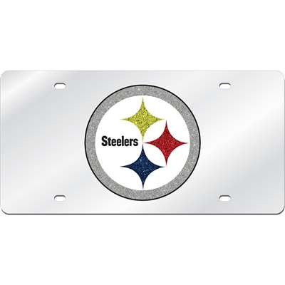 Pittsburgh Steelers Logo Mirrored License Plate