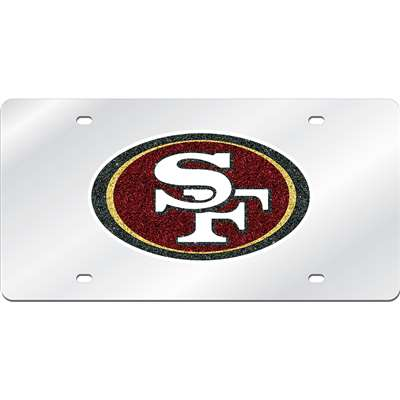 San Francisco 49ers Logo Mirrored License Plate