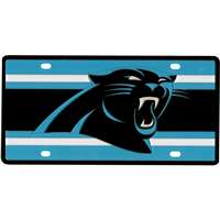 Carolina Panthers Full Color Super Stripe Inlay License Plate